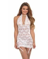 White Bridal Chemise Lingerie & Clothing > Lingerie Small-XL Dreamgirls