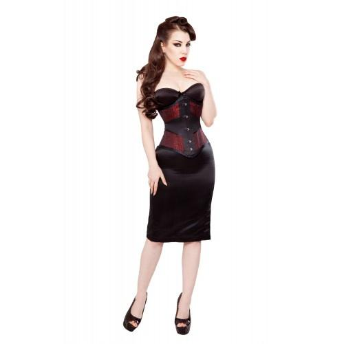 WISP WAIST TRAINING CORSET IN BROCADE & SATIN