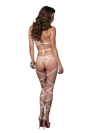 Wrap Around Fishnet Halter Top and G-String Lingerie & Clothing > Lingerie Small-XL Leg Avenue
