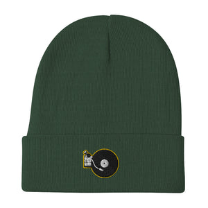 Portable Wax - Embroidered Beanie (Yellow/Green)