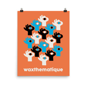Wax Hands by The Ohmu - Premium Poster (Orange)