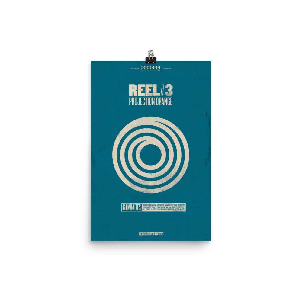 Reel 3: Projection Orange - Premium Poster