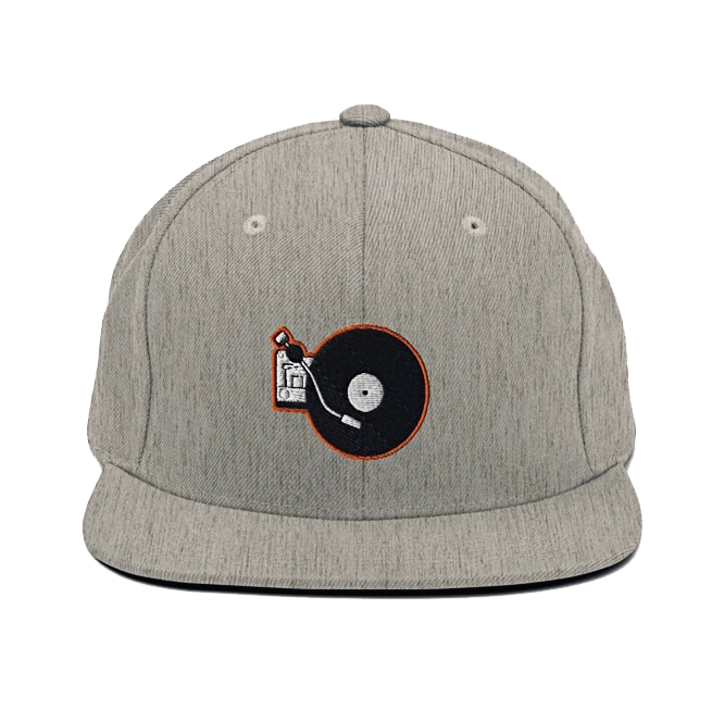 Portable Wax - Snapback Hat (Grey/Orange)