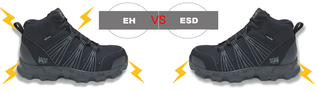 Electrical Hazard (EH) vs  Static Dissipative (ESD) and How