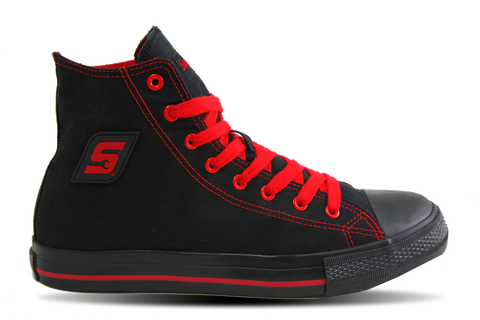 Snap-on Hot Rod Black & Red, Casual Athletic Footwear