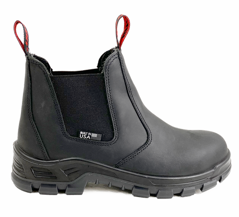 Snap-on Davis Steel Toe Boot, Built in America, 5-Inch Slip-On