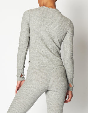 Apres Henley [ Heather Grey Rib ]