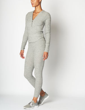 Apres Legging [ heather grey rib ]