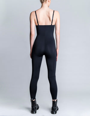 V Jumpsuit [ black ]