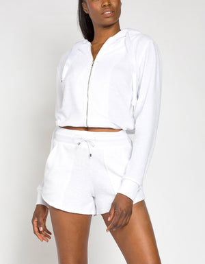 Terry Zip Up [White]