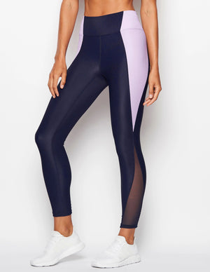 Gym Legging [ navy / lilac ]