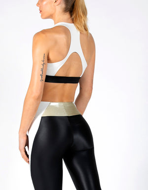 RACER BRA [ IVORY / BRUSHED GOLD ]
