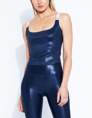 Barre Cami [ SATIN NAVY ]