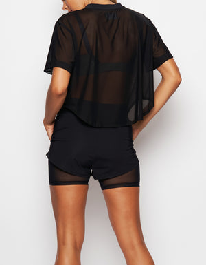Illusion Tee [ Black Mesh ]