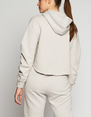 RUCHED HOODIE [ CEMENT ]
