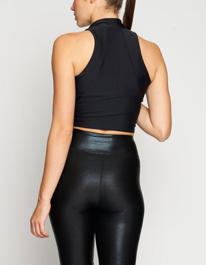 Work Crop Top [ Black ]