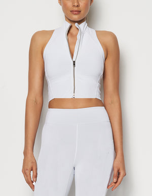 Work Crop Top [ White ]
