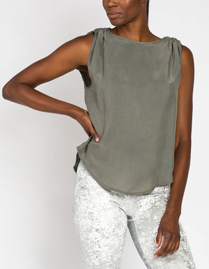 Cupro Tank [ ARMY GREY ]