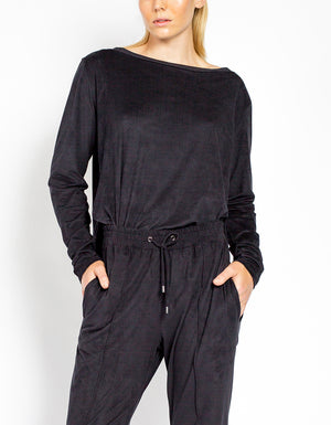 SUEDE TOP [ Black ]