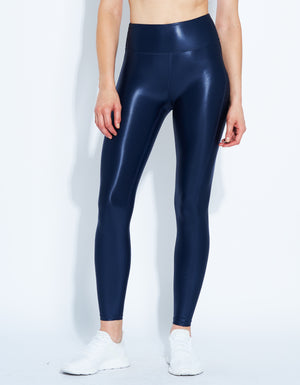 Barre Leggings [ satin navy ]