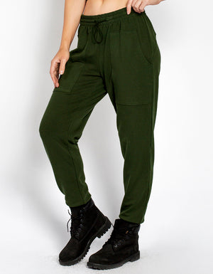HENLEY SWEATPANTS [ ARMY ]