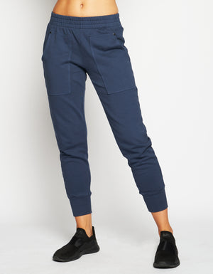 HENLEY SWEATPANTS [ NAVY ]