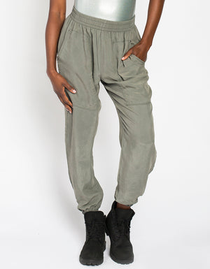 CUPRO JOGGERS [ ARMY GREY ]