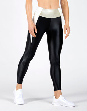 Racer Legging [IVORY/BRUSHED GOLD/BLACK]