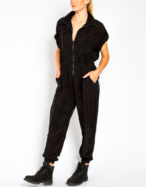 Cupro Jumpsuit [ black ]