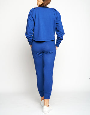 HENLEY SWEATPANTS [ COBALT ]
