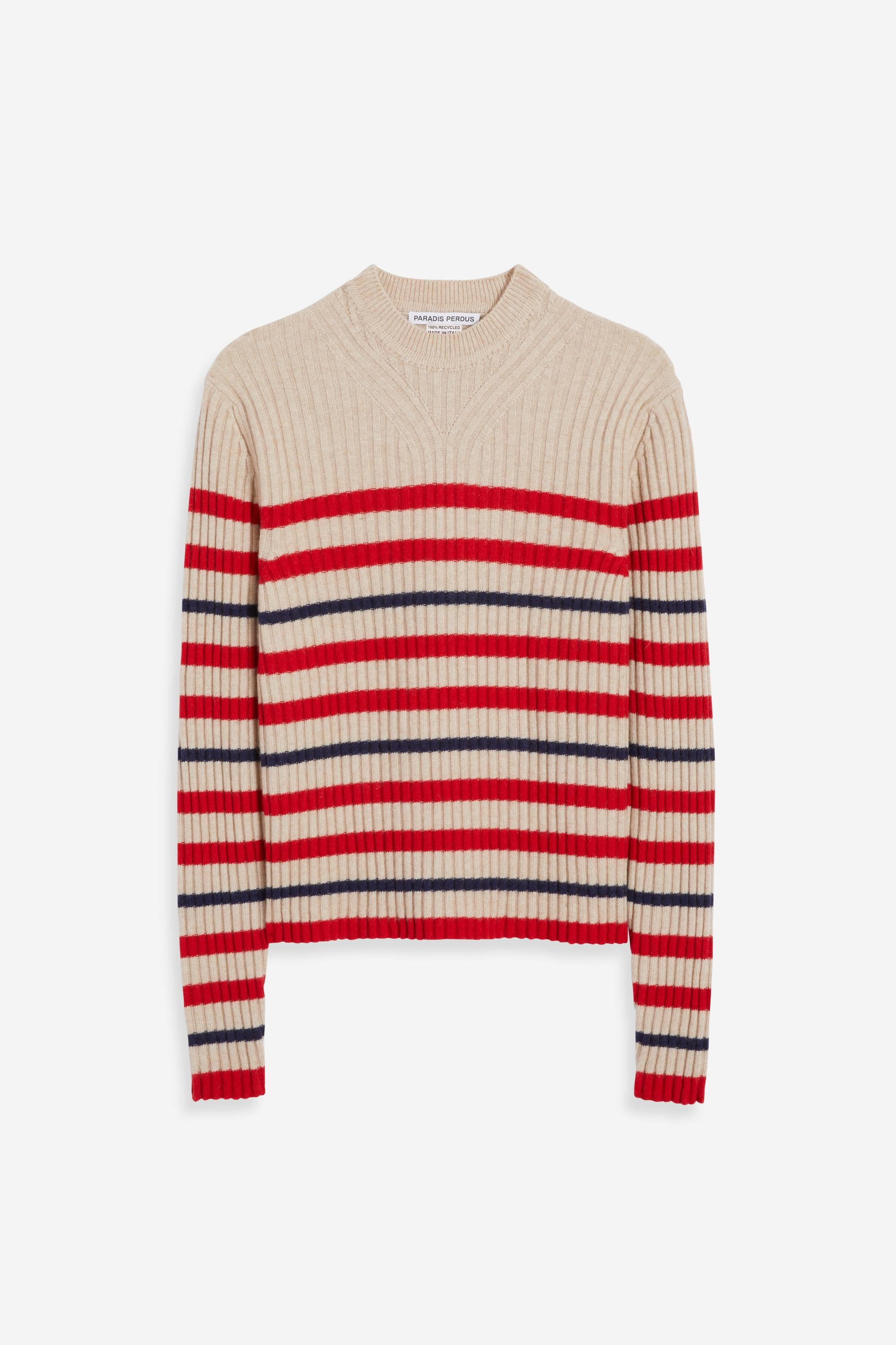 CÔME | Stripe Beige Red Blue