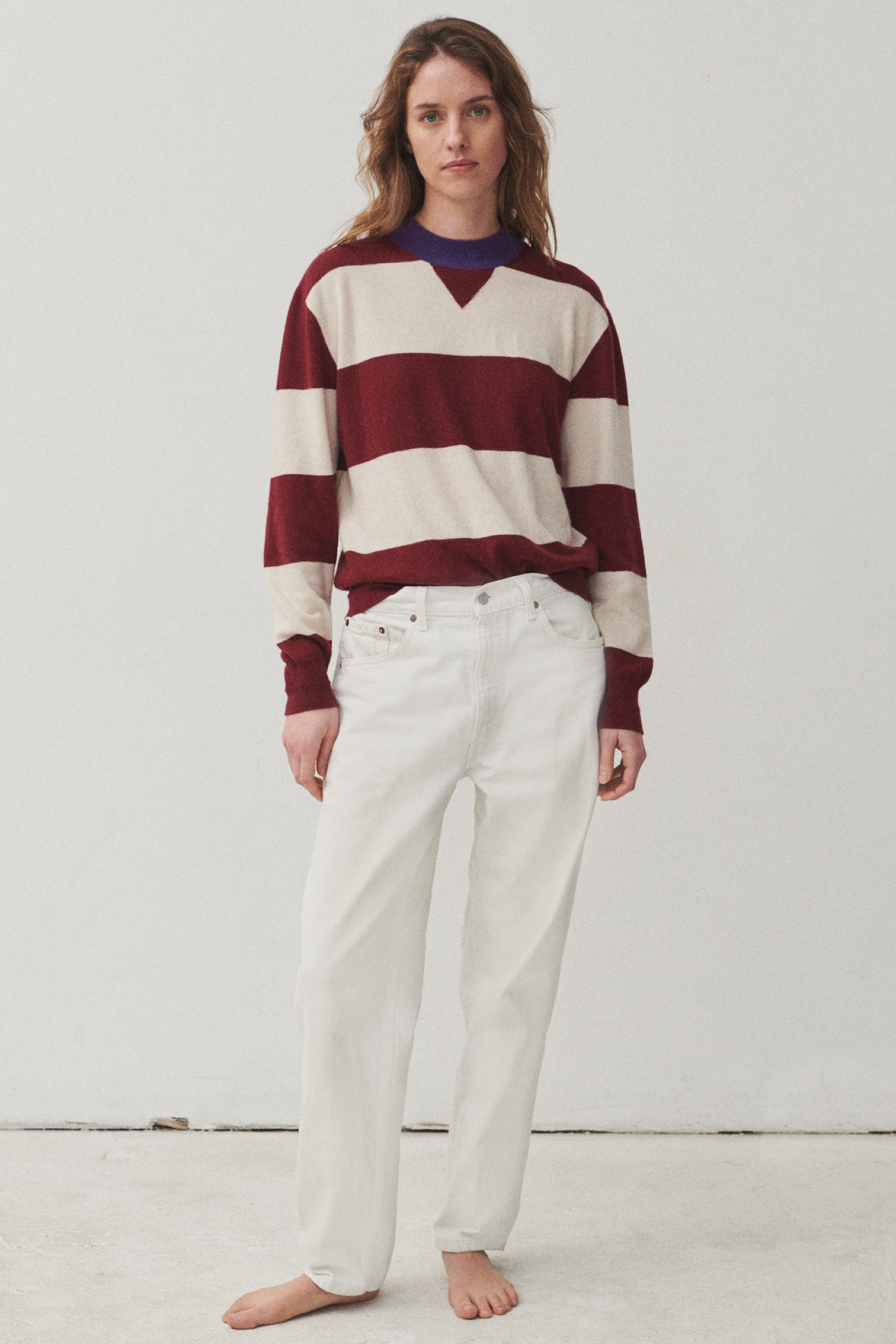 CLAUDE | Stripe Red / Ivory