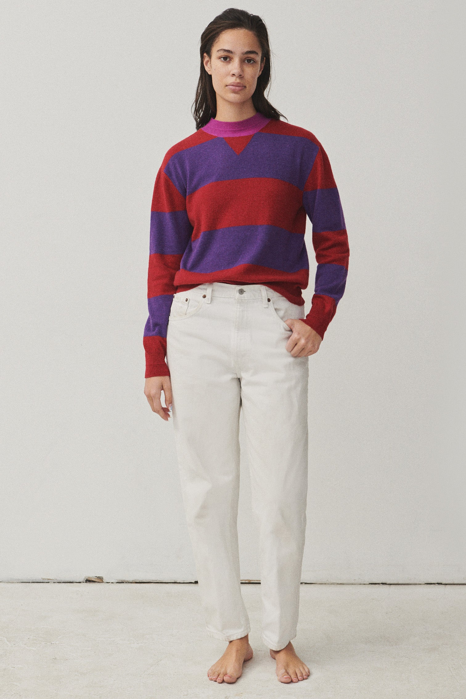 CLAUDE | Stripe Red / Purple