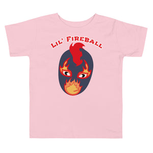 "The Rock n Roll Wrestling Kids ""Lil' Fireball"" Toddler Short Sleeve Tee white"