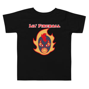 "The Rock n Roll Wrestling Kids ""Lil' Fireball - Flame"" Toddler Short Sleeve Tee Black"