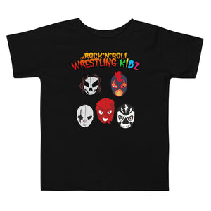 "The Rock n Roll Wrestling Kids ""The Gang's All Here"" Toddler Short Sleeve Tee white"