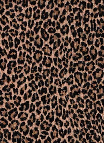 P2243-AN50507 C1 STONE/BLACK RIB PRINT CHEETAH ANIMAL