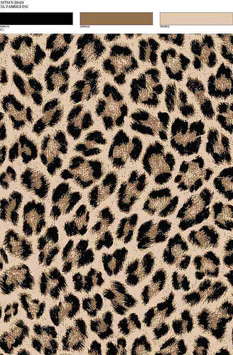 D1692-AN50734 C1 BK/BRWN LEOPARD ANIMAL