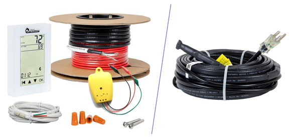 Heating Cables - For Floor or Pipe & Roof