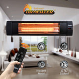 Dr. Infrared Heater DR-238 1500W carbon infrared heater indoor outdoor patio garage  wall or ceiling Mount with remote, black