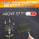 Dr. Heater Heating Cables, For Pipes and Roof De-Icing, Self-Regulating with Built-in Thermostat