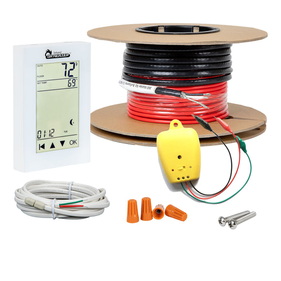 Dr Infrared Heater Electric Radiant Floor Heating Cable Kit with WIFI Thermostat and Installation Monitor, App control