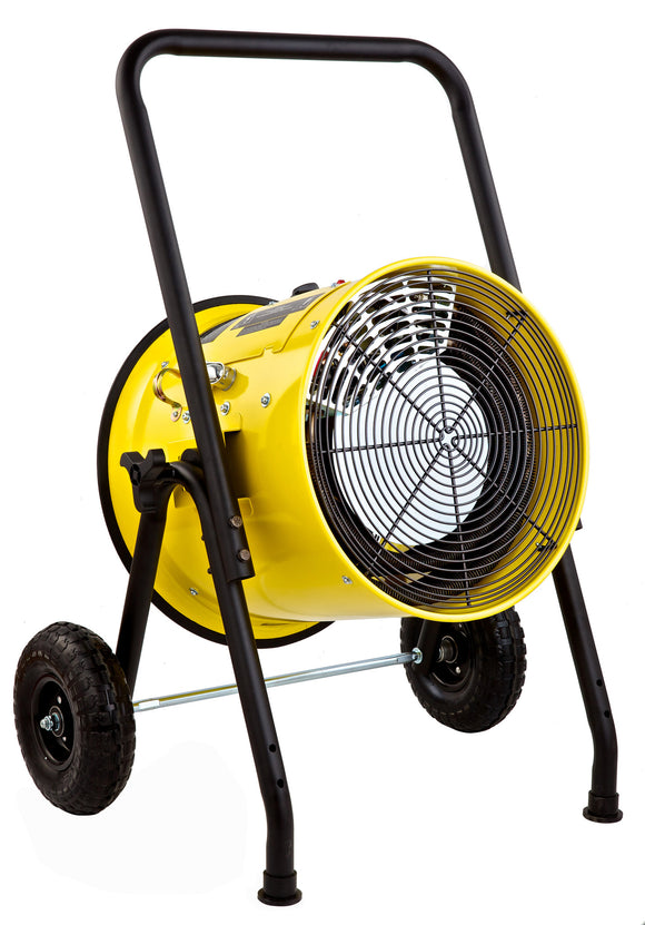 Dr. Infrared Heater Salamander Construction 10000-Watt, Single Phase, 240-Volt Portable Fan Forced Electric Heater, DR-PS11024