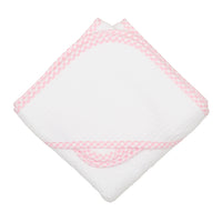 Pink Check Hooded Towel Set
