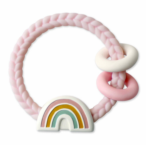 Rainbow Rattle with Teething Rings