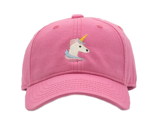 Kids Unicorn on Bright Pink Hat