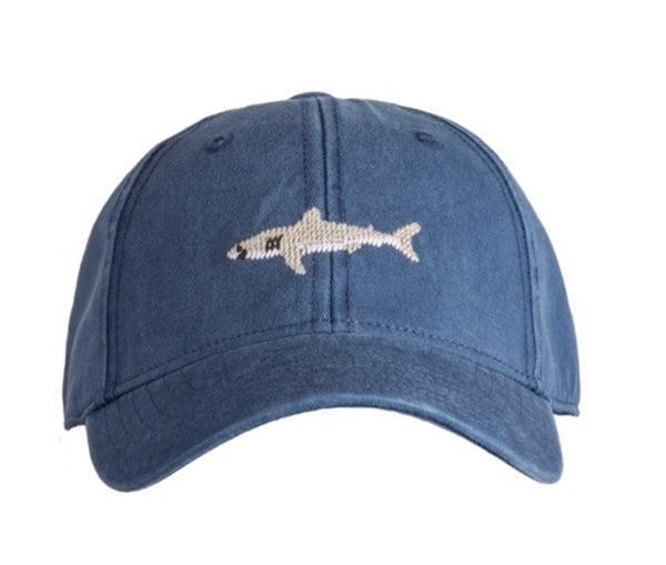 Kids Great White Shark on Navy Hat