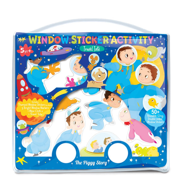 Window Sticker Activity Tote - Space Adventure