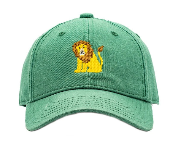 Kids Lion on Moss Green Hat
