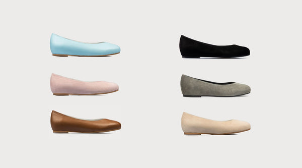 6 pairs of flats